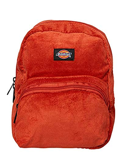 Dickies Corduroy Mini Backpack Burnt Orange Solid & Knit Cap Bundle ()