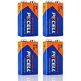 4 Pack 9V 6LR61 MN1640 E22 522 Alkaline Battery