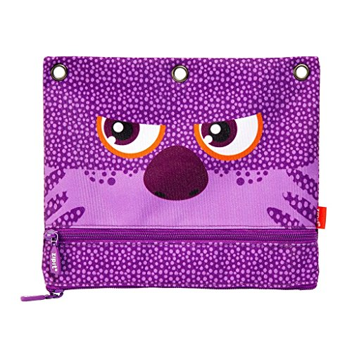 ZIPIT Wildlings Slim 3-Ring Pencil Case, Purple