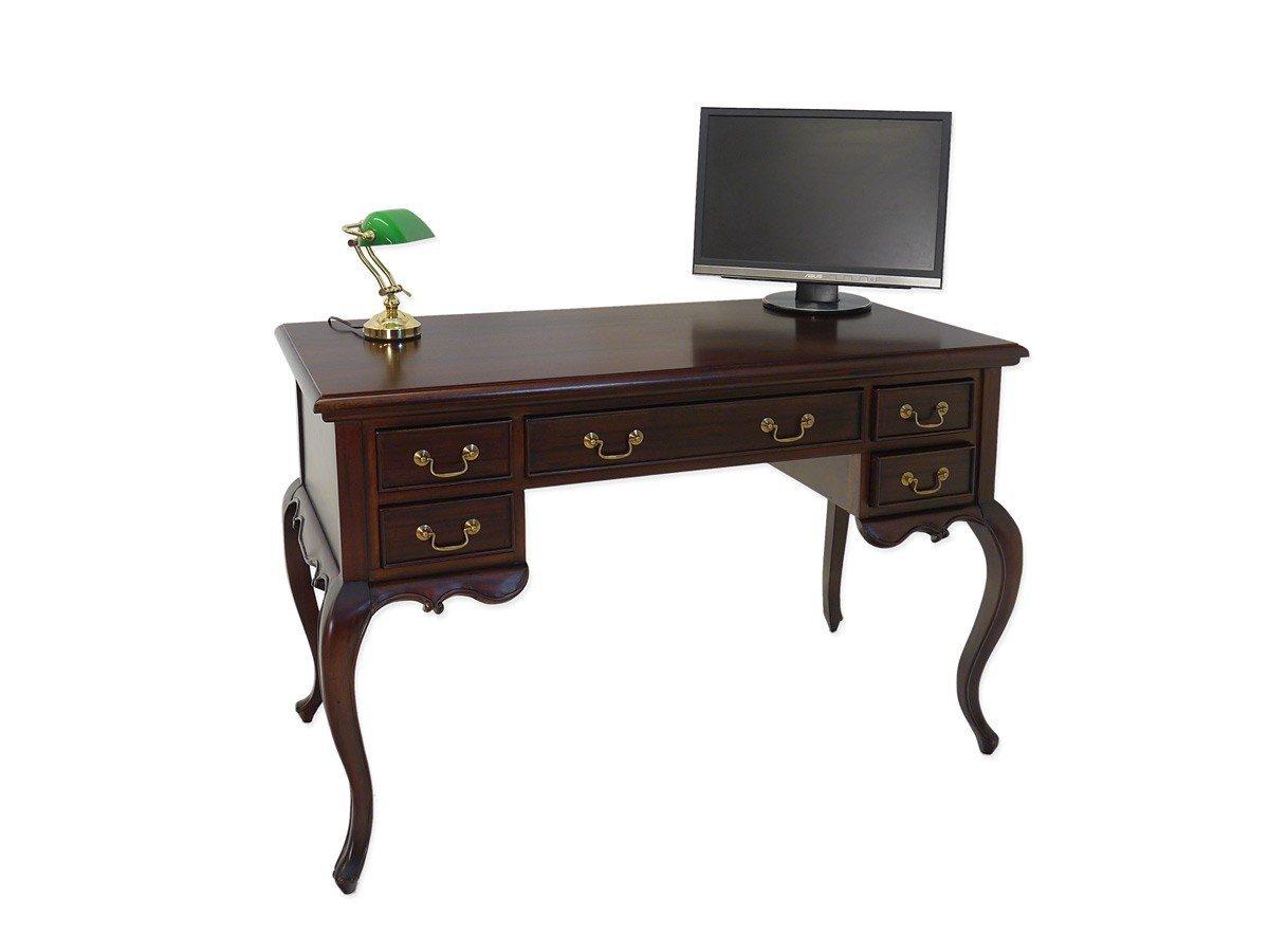 Schreibtisch Antik Stil Massivholz Nussbaum dunkel jetzt ...