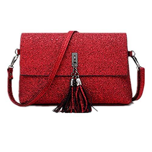 Personalidad Colgante Moda Lentejuelas De Bolsos Las Bolso Bandolera Negro Red Señoras HFAXXW