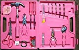 105 Pc Household Steeltec Ladies Pink Tool Box Toolbox Tools Set Kit NEW by Other Hand Tool Sets