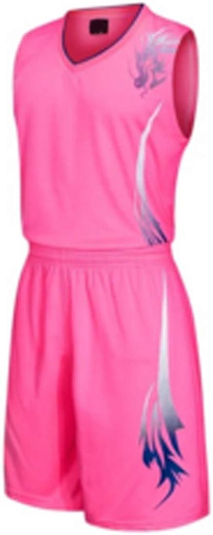Aiweijia Adulte Uniforme de Basket Enfant Concurrence Costume Maillots Uniformes V/êtements de Basket Costume