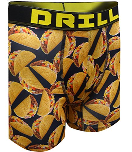 Drill Delicious Tacos Performance Boxer Briefs For Men (X-Large)