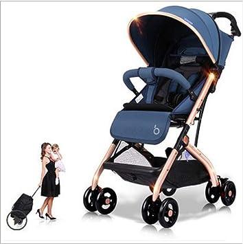 QZX Cochecito de bebé liviano para cochecitos de bebé Convertibles para bebés con Sistema de Seguridad