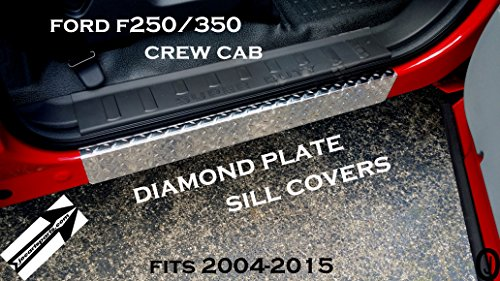 - J & O Carts Parts Fits Ford F250/350 Crew Cab Diamond Plate Door Sill Side Covers