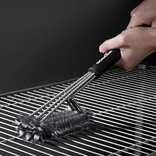 """SOGODE BBQ Grill Brush 18"""" Barbecue Cleaner Tools, 360° Grill Cleaning with 3 Stainless Steel Bristles in 1, for Char-broil, Weber ,Porcelain, Charcoal and Infrared Grills"""