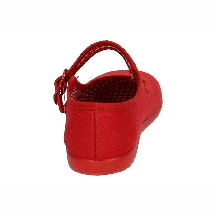 deac82684 MADE IN SPAIN 951 Lonas DE Tela Rojas NIÑA Zapatillas  Amazon.es  Zapatos y  complementos