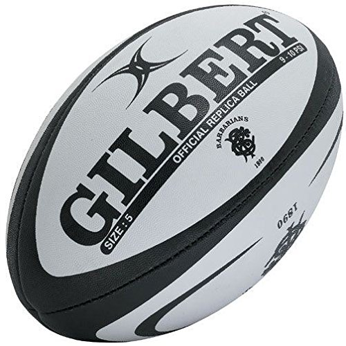 861262635632d Réplique Ballon de rugby officiel des Barbarians Blanc/Noir Rugby Sports &  Outdoors 5