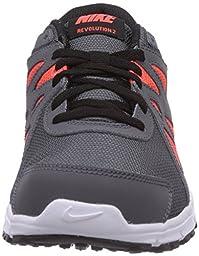Boy\'s Nike Revolution 2 Running Shoe (GS) Dark Grey/White/Metallic Silver Size 4 M US