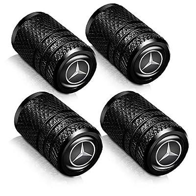 Baoxijie 4Pcs Metal Car Wheel Tire Valve Stem Caps for Mercedes Benz C E S M CLS CLK GLK GL A B AMG GLS GLE Logo Styling Decoration Accessories: Automotive