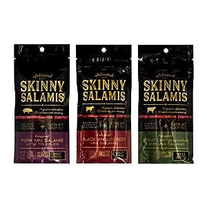 Meat Crafters Variety - Black Angus Beef, Pork Skinny Salamis and Street Cart Shawarma Lamb - Pack of 3