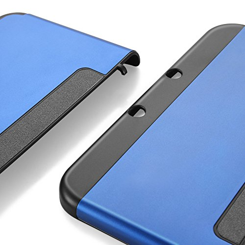 TNP New 3DS XL Case (Navy Blue) - Plastic + Aluminium Full Body Protective Snap-on Hard Shell Skin Case Cover for New Nintendo 3DS LL XL 2015