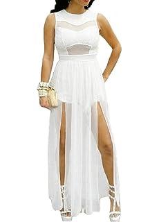 Red Dot Boutique 6630 - Plus Size Double Slits Lace Chiffon Jumpsuit Maxi  Dress b6dcd275f