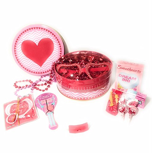 Happy Valentines Day Kids Gift Basket 11 Piece Set Gifts and Candy For That Special Someone - Heart - Someones Heart