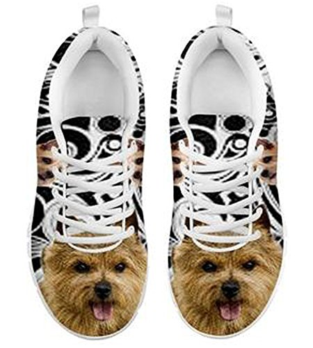 Brand 5 Terrier 8 Dog Cute Norwich Sneakers Print Casual Men's zz47qrOvn