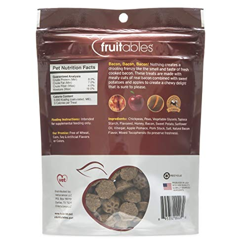 Fruitables Skinny Minis Grain Free Soft Dog Treats Apple Bacon Flavor 5 Oz