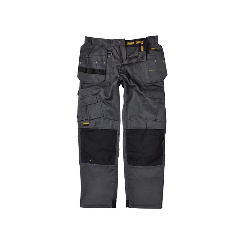 DeWalt Men's Polycotton Pro Tradesman Work Trouser - Black, 32W x 29L