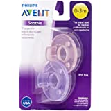 Philips Avent Soothie Pacifier, Pink/Purple,...