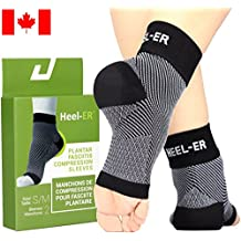 Heel-ER™ Plantar Fasciitis Socks with Arch Support for Heel Pain, Heel Spurs and Plantar Tear Pain Relief, Ankle Brace Compression Sleeves for Men & Women Foot Care, Better than Night Splint, Increase Circulation & Ease Swelling