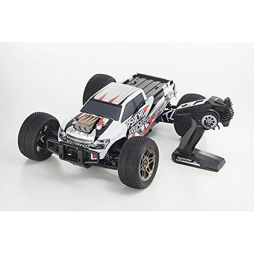 Kyosho Psycho Kruiser 6S LiPo, 18 Scale Brushless Powered RC Truck, White/Black/Red from Kyosho