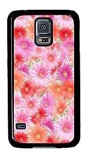 Samsung Galaxy S5 Pink Flowers PC Custom Samsung Galaxy S5 Case Cover Black