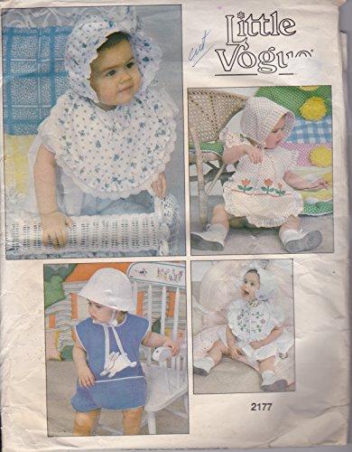 Vogue Bonnet - Vogue 2177 Sewing Pattern Toddler's Bids & Bonnets