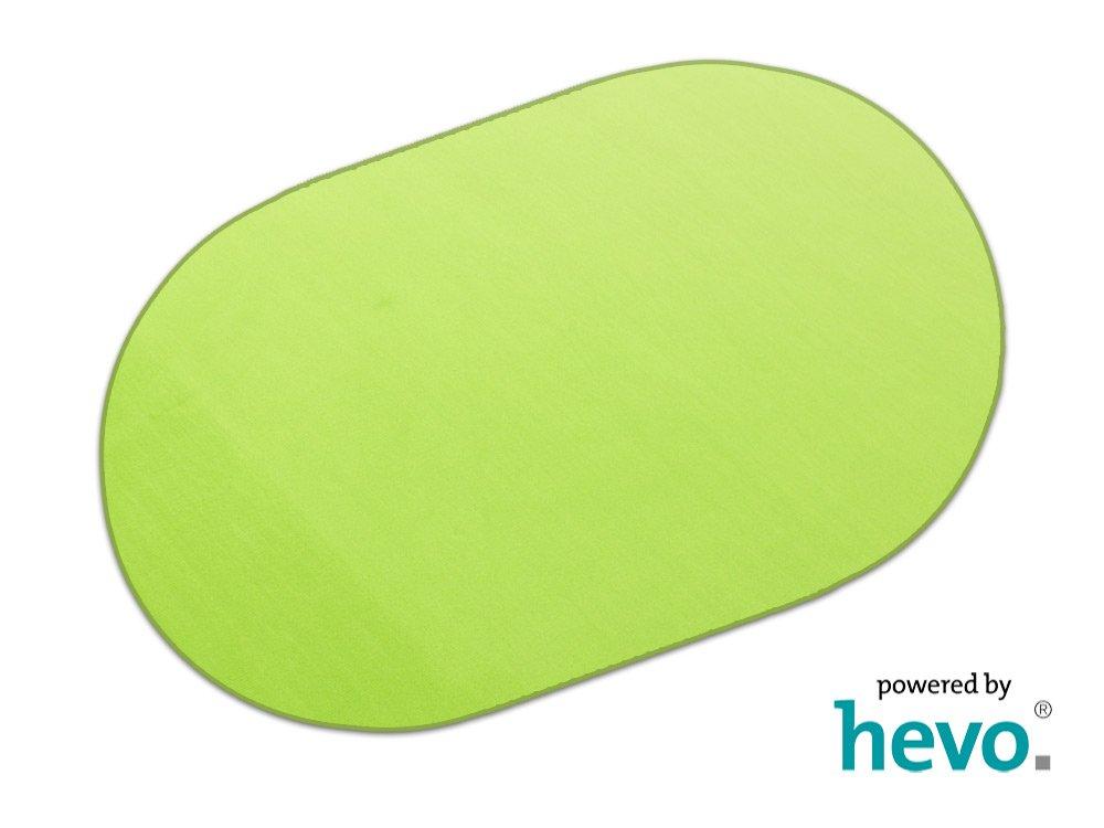 Romeo grün HEVO® Teppich   Kinderteppich   Spielteppich 200x280 cm Oval