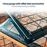 "Fleximounts 4x8 Overhead Garage Rack with Add-on Hooks Set Heavy Duty Height Adjustable Ceiling Racks (22''-40"" Ceiling Dropdown), Black"