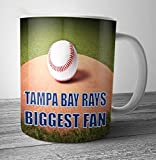 Tampa Bay Rays Biggest Fan Baseball Mug - Birthday Gift / Stocking Filler (7 - 10 BUSINESS DAYS DELIVERY FROM UK)