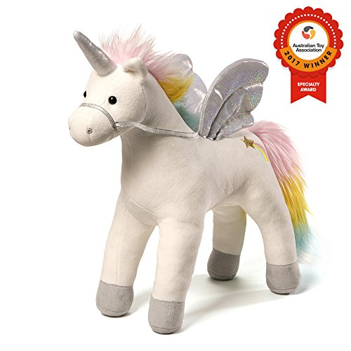 GUND My Magical Sound and Lights Unicorn Stuffed Animal Plush, White, 17""