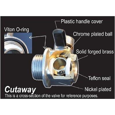 EZ (EZ-110) Silver NPT 3/8-18 Thread Size Oil Drain Valve: Automotive