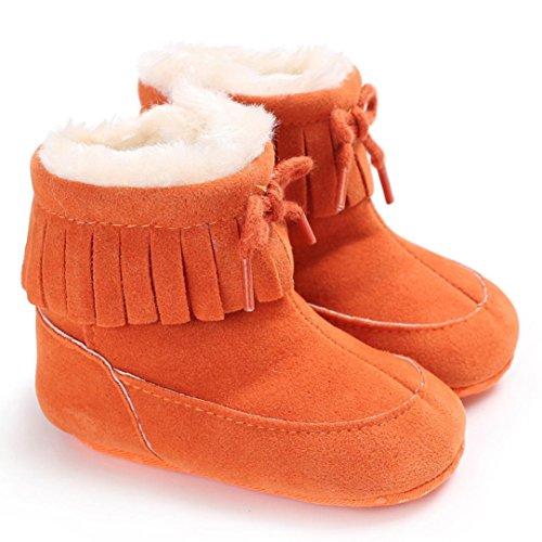 Omiky® Baby Soft Sole Snow Stiefel Soft Crib Schuhe Kleinkind Stiefel Orange