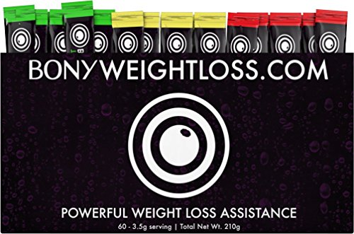 Bony Weightloss: Mixed Flavor 60 Count Sticks with Garcinia Cambogia, Green Coffee Bean, Noni and Yacon - Diet Drink for Men and Women - Carb Blocker and Appetite Suppressant For Natural Weight Loss (Stick Loss Weight Fit)