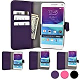 ZTE Grand Memo, S/Flex, S2, S3, X Plus/Quad, X2 In phone case, COOPER SLIDER Mobile Cell Phone Wallet Protective Case Cover Casing with Open Camera & Credit Card Holder (Purple)