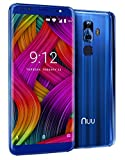 "G3 NUU Mobile 5.7"" 64GB Unlocked Phone - 4GB Ram Dual-SIM GSM LTE - Dual Camera 13 MP Fingerprint ID Fast Charge Blue"