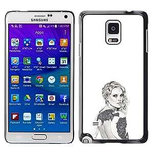 TaiTech / Hard Protective Case Cover - Fashion Design Art Style - Samsung Galaxy Note 4 SM-N910F SM-N910K SM-N910C SM-N910W8 SM-N910U SM-N910 by ruishername