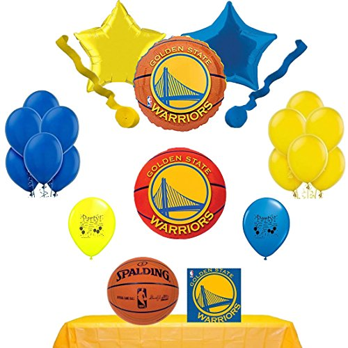 Golden State Warriors Party Supply and Balloon Decorating Kit -