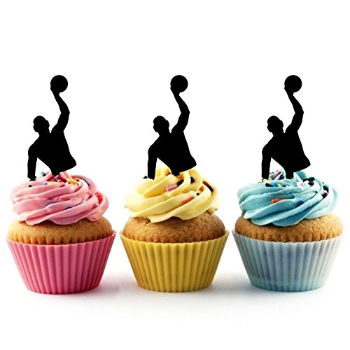 Water Polo Silhouette Party Wedding Birthday Acrylic Cupcake Toppers Decor 10 pcs