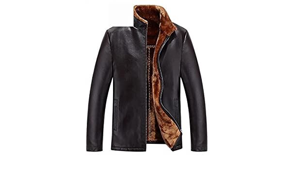 Musamk Dashing leather jacket men manteau homme jaqueta de couro chaqueta cuero hombre winter jacket men genuine leather jacket men BROWN 2XXXL High Grade ...