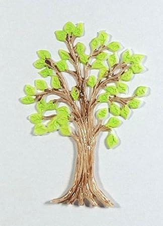 Wachsmotive Für Kerzen.Wachsmotiv Lebensbaum 8 X 6 Cm 9697 Zum Verzieren Von Kerzen Selbstklebend