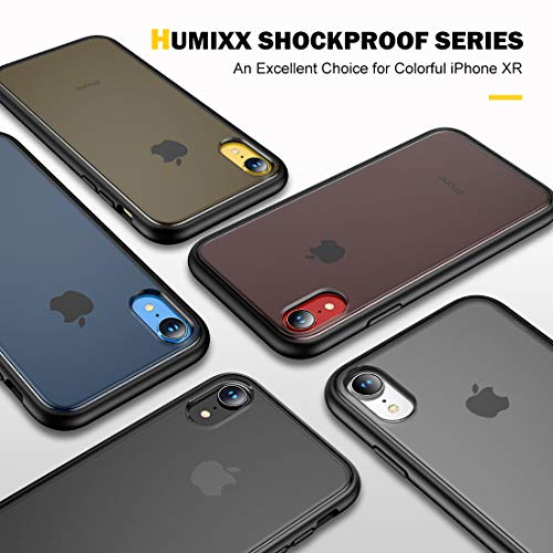 Humixx Shockproof Series iPhone XR case,[Military Grade Drop Tested] [Upgrading Materials] Translucent Matte Case with Soft Edges, Shockproof and Anti-Drop Protection Case Designed for Apple iPhone XR