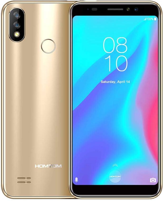 HOMTOM C8 Quad-Core 2 + 16 GB 18: 9 5.5 3000 mAh ID de Cara Libre Libre Smartphone 4G: Amazon.es: Electrónica