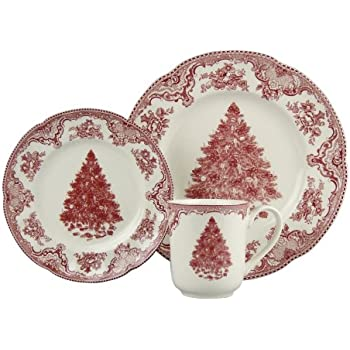 Johnson Brothers Old Britain Castles 12-Piece Holiday Dinnerware Set Service for 4  sc 1 st  Amazon.com & Amazon.com | Johnson Brothers Old Britain Castles 12-Piece Christmas ...