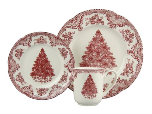 Johnson Brothers Old Britain Castles 12-Piece Holiday Dinnerware Set, Service for 4