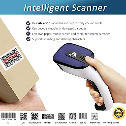Portable Wireless Bluetooth Barcode Scanner: ScanAvenger 3-in-1 Hand Scanners - Cordless, Rechargeable 1D and 2D Scan Gun for Inventory Management - Wireless, Handheld, USB Bar Code/QR Code Reader by ScanAvenger (Image #1)