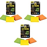 Post-it Extreme Notes 3 Pack, Green, Yellow, Orange, 45 Sheets per Pad, 3 Pads - 3 Pack