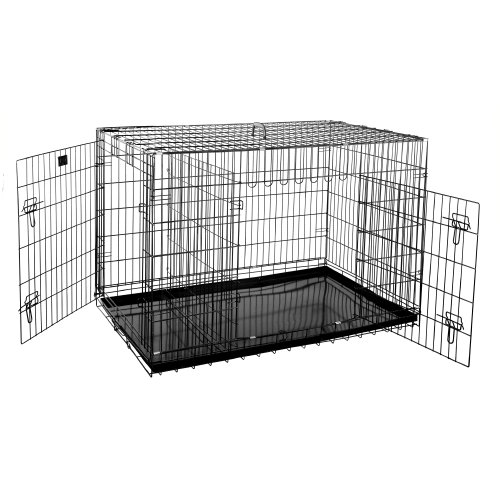 Pet Trex 2204 48 Inch Dog Crate Folding Pet Crate Kennel for Dogs, Cats or Rabbits, 48