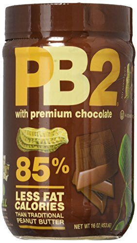 Bell Plantation Chocolate PB2 Powdered Peanut Butter, 16oz, 4 Pack by PB2