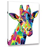iFymei Paint by Number Kits Paintworks Acrylic DIY Oil Painting for Kids and Adults Beginner Animals Canvas(Color Deer)